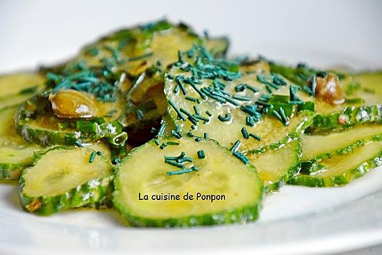 recette Salade de concombre, câpres et spiruline