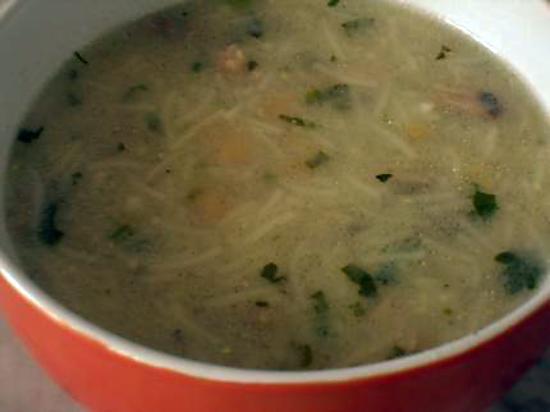 recette Chorba beida (soupe blanche algéroise)