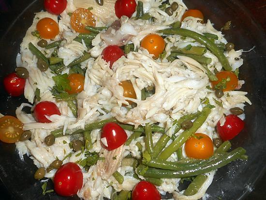 recette Salade de raie aux haricots vert