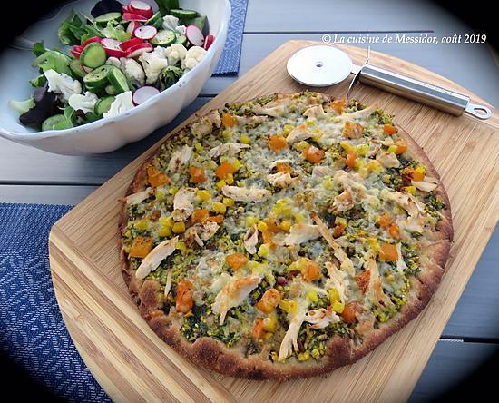 recette Pizza express au pesto léger d'aneth +