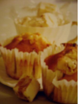 recette muffin aux éclat de nougat