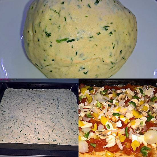 recette PÂTE A PIZZA FINE AUX HERBES À LA M.A.P