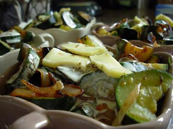 recette Gratin de courgettes croquantes au gouda au cumin.