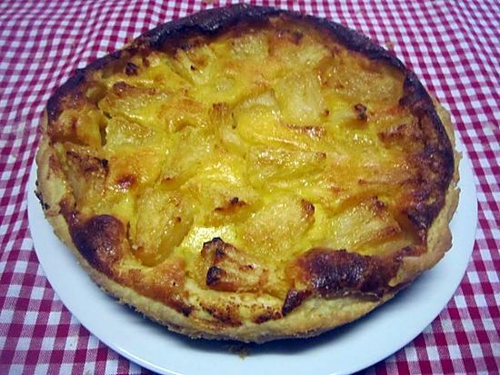 recette Tarte à l'ananas.et crème fraiche.