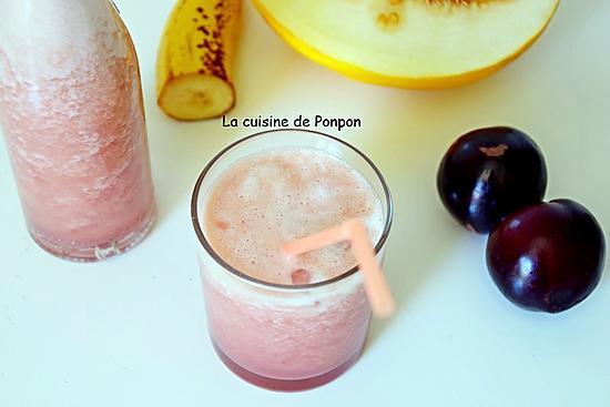 recette Jus de melon, prune, banane, kiwi et acérola, vegan
