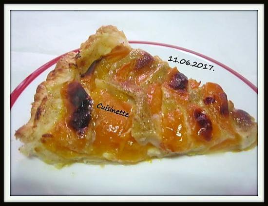 recette Tarte aux abricots.vanillée.