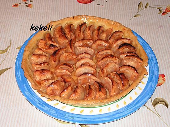 recette Tarte aux pomme et à la gelée de coing