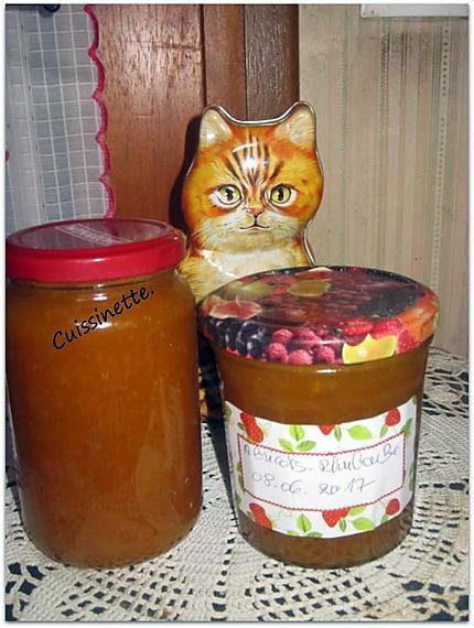 recette Confiture d'abricots.rhubarbe.