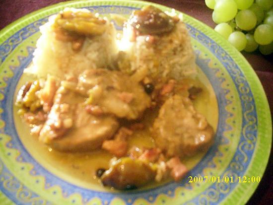recette Sauté de porc aux quetsches