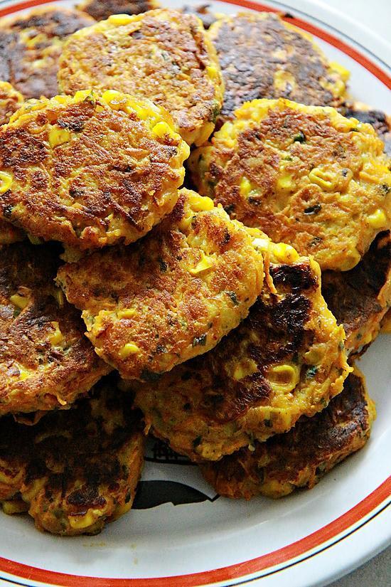 recette Galette de pommes de terre / carottes / maïs