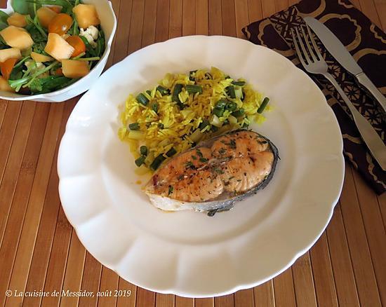 recette Darnes de saumon bbq aux herbes sèches +