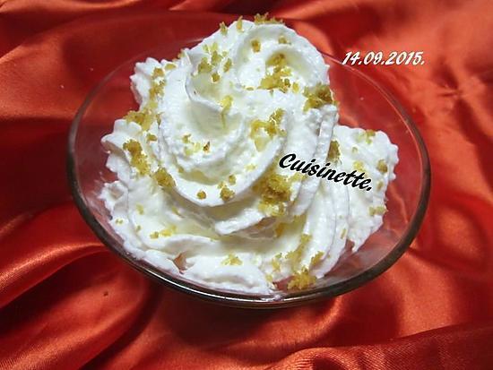 recette yaourts citronné.Chantilly.