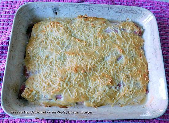 recette Endives au jambon sauce crémeuse à l'oignon au Cookeo