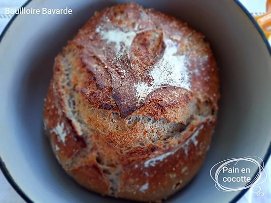 recette Pain à la cocotte  à la farine 5 céréales et 3 graines bio
