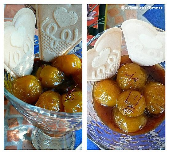recette Mirabelles au safran du Quercy.