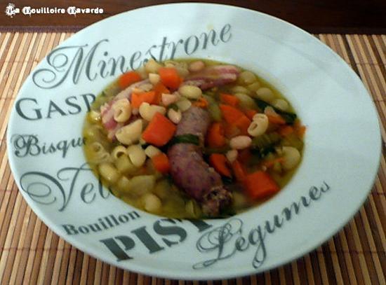 recette minestrone de légumes d'hiver au lard fumé