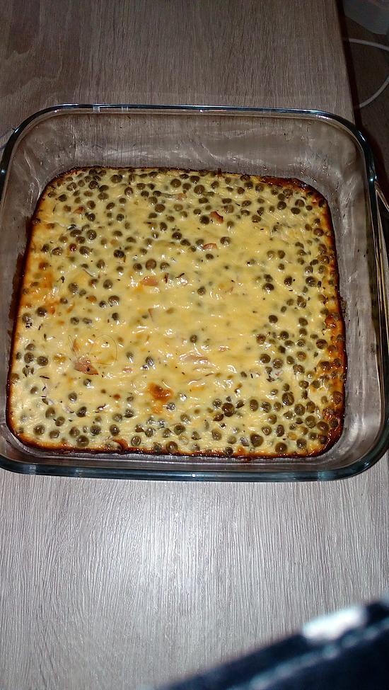 recette Clafoutis de petits-pois jambon et ricotta