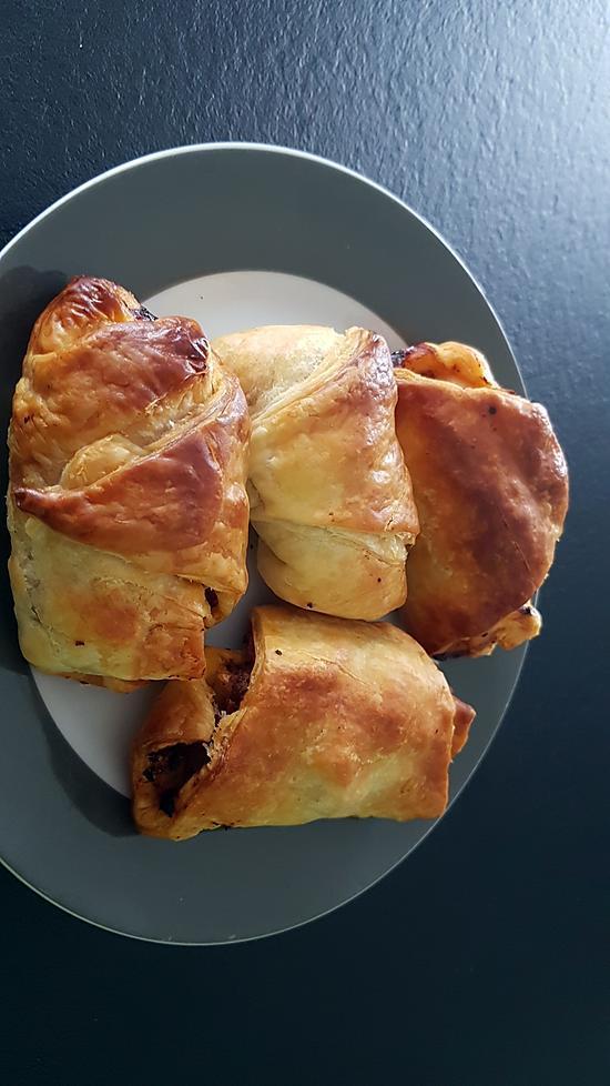 recette Croissant feuilleté à la viande hachée et carotte