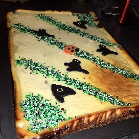 recette Cheesecake au fromage blanc et a la confiture de cerise noire