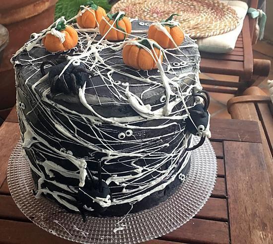 recette Halloween Spider Cake
