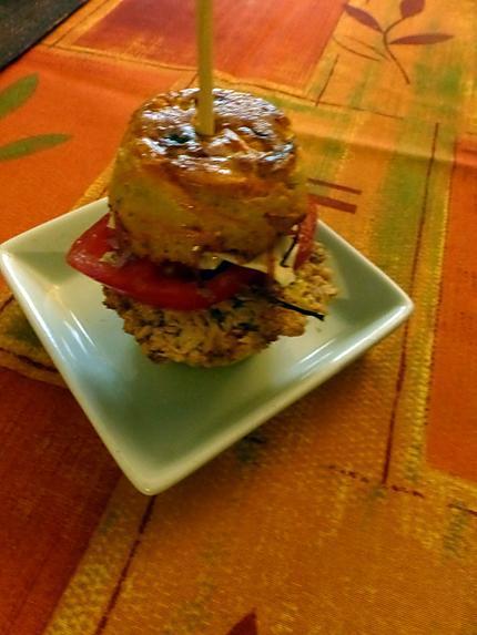 recette Le mini hamburger de bug bunny au reste de rôti de porc et de pain rassis