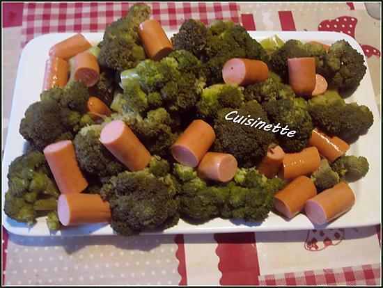 recette Brocolis aux snacks cookéo.