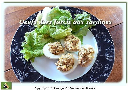 recette Œufs durs farcis aux sardines