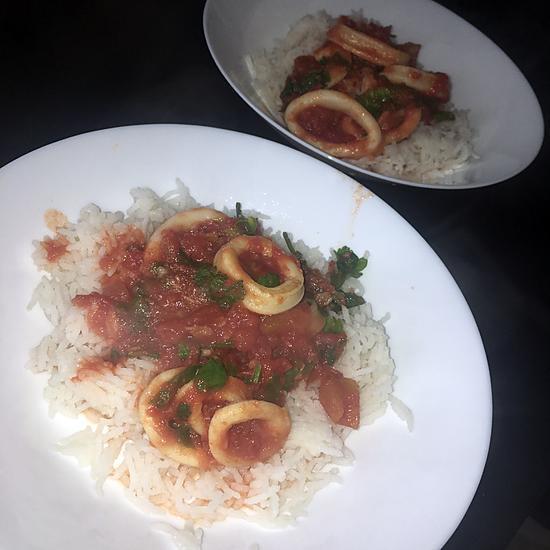 recette Encornet a la sauce tomate