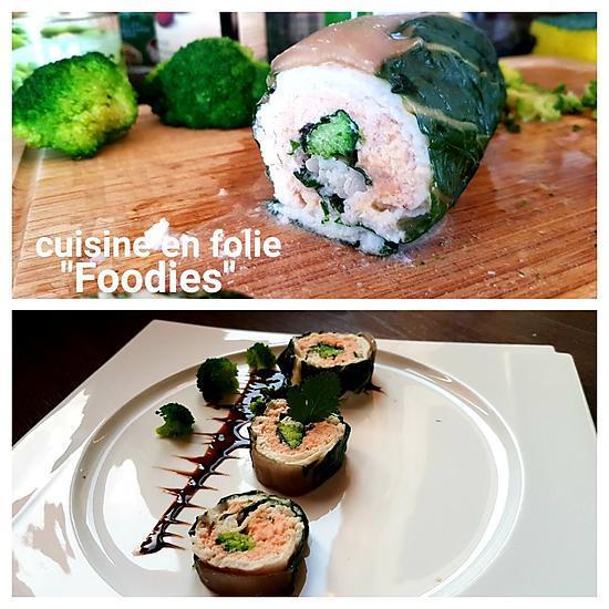 recette Ballotine de sandre et blette farcie au saumon et brocoli