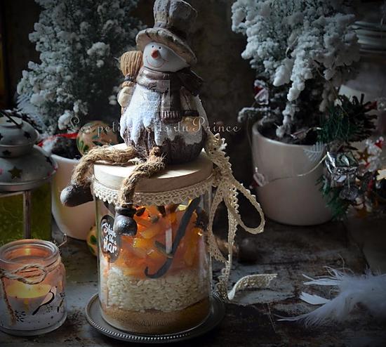 recette Kit SOS Riz au lait  aux saveurs de Noël, pour panier gourmand