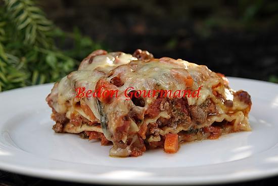recette Lasagne avec sauce bolognaise de luxe et fromage en crottes