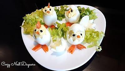recette les poussins ; une autre idée originale pour décorer les salades