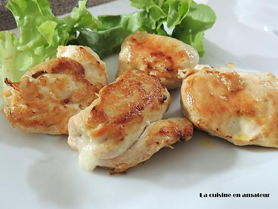 recette Escalope à la mozzarella