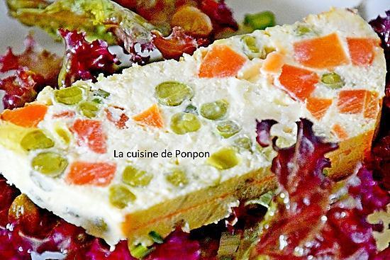 recette Terrine de petits pois, carottes et navets, sans farine, végétarien