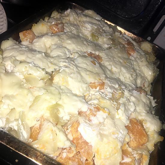recette Gratin de ravioles du Dauphiné et courge Butternut