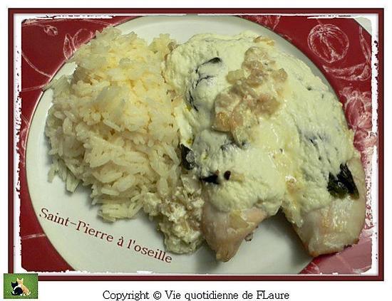 recette Filet de saint-Pierre à l'oseille