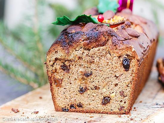 recette Cake de Noël sans gluten, sans lait, sans sucre, sans levure, avec ou sans œuf