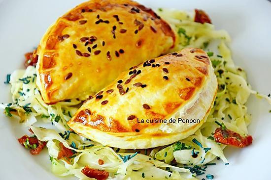 recette Empanadas à l'effiloché de porc aux poivrons-tomates et bruschetta