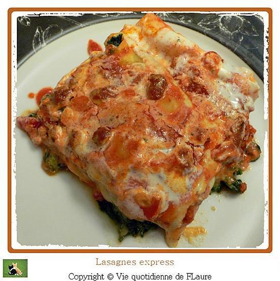 recette Lasagnes express aux épinards, parmesan, gorgonzola