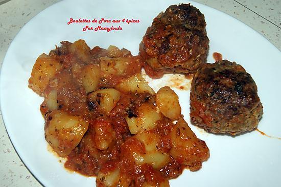 recette Boulettes de porc aux 4 épices