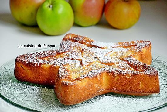 recette Gâteau aux pommes au lait concentré sucré et combava
