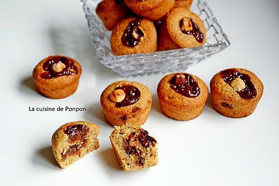 recette Petit moelleux à la confiture de gingembre et confiture de lait cacao et noisettes, avec blancs d'oeufs et sans beurre