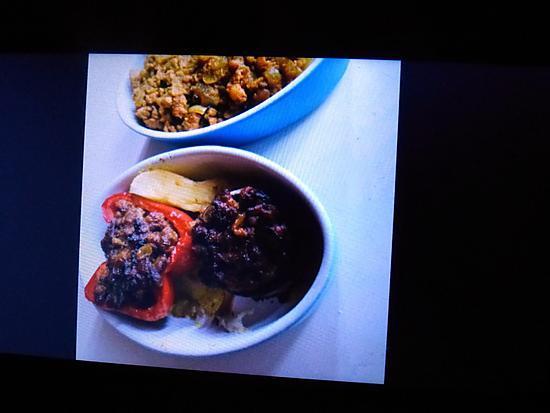 recette Poivrons et champignons farcis façon Antillaise