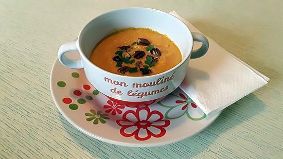 recette Velouté butternut poireaux coco au thermomix