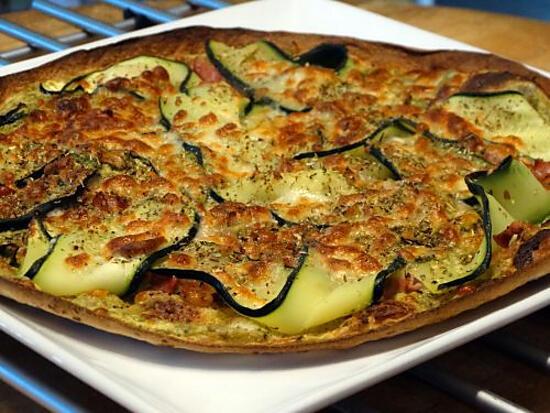 recette Pizza Wraps aux Courgettes et Pesto Vert