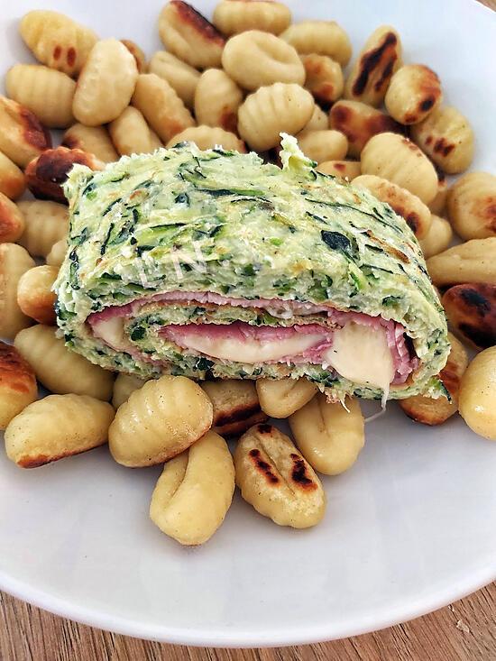 recette Roulé courgettes, jambon,  fromage