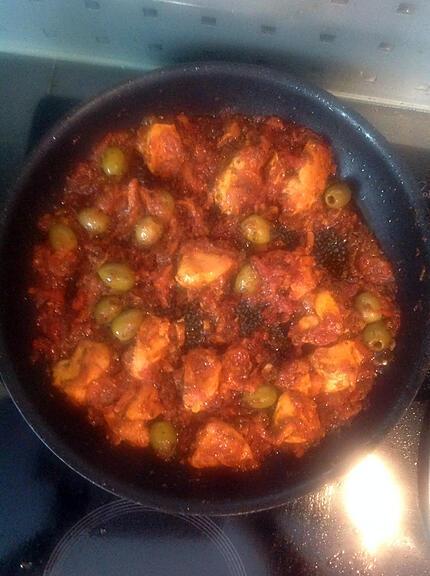 recette Escalopes de poulet aux olives