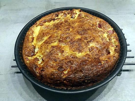 recette quiche sans pâte aux jambon et à la mozzarella