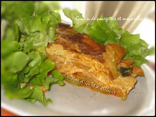 recette Gratin de courgettes à la mozarella