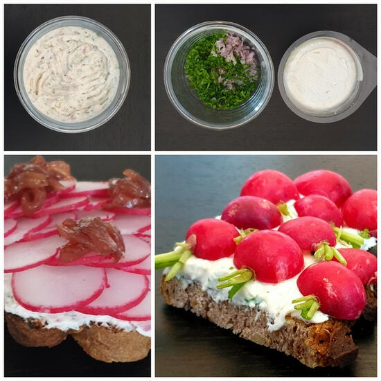 recette fromage de chèvre frais à l'échalote et ciboulette